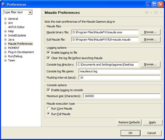 Maude Development Tools User's Manual
